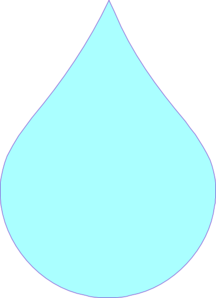 Blue Drop Clip Art. Tear Drop Picture