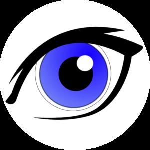 Blue Eye With Eyeliner Clip Art At Clker Com Vector Clip Art Online