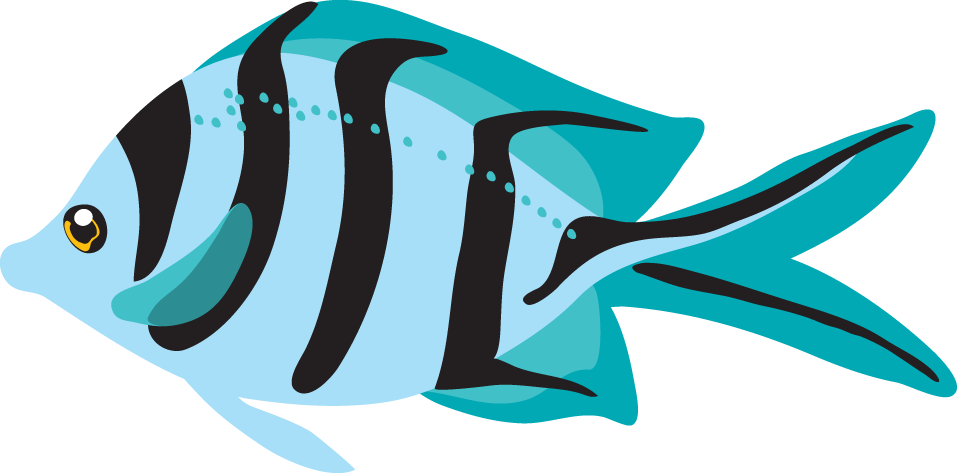 Blue Fish Clipart-Blue fish clipart-1