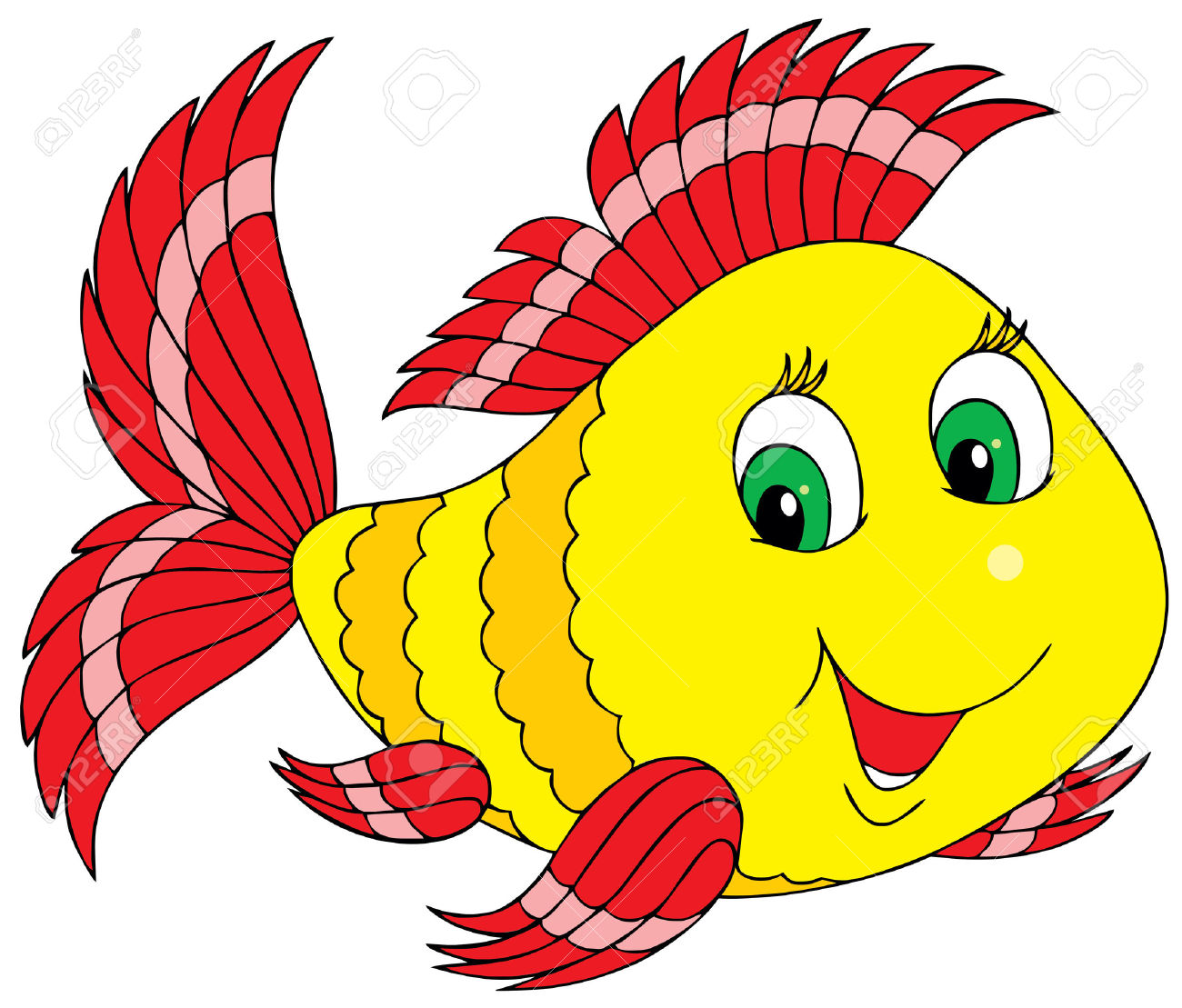 Blue Fish Fish Clip Art Free-Blue fish fish clip art free-1