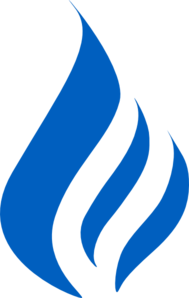Blue Flame Logo Clip Art