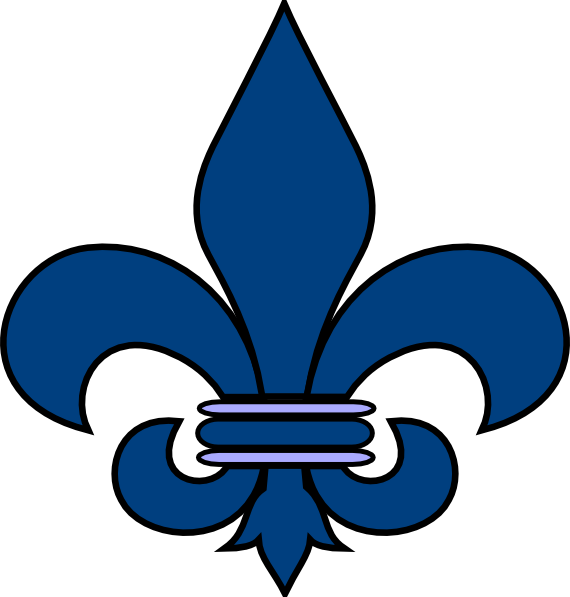 Blue Fleur De Lis Clip Art At - Fleur De Lis Clipart