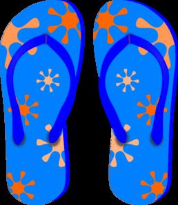 Blue Flip Flops Clip Art At Clker Com Vector Clip Art Online