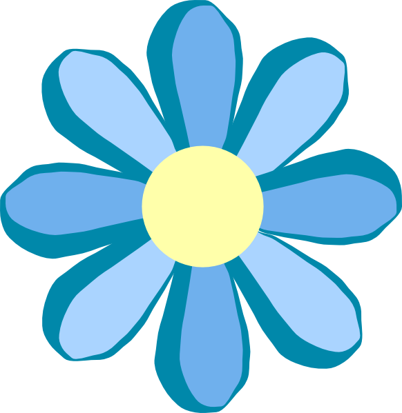 Blue Flower Clip Art At Clker Com Vector-Blue Flower Clip Art At Clker Com Vector Clip Art Online Royalty-3