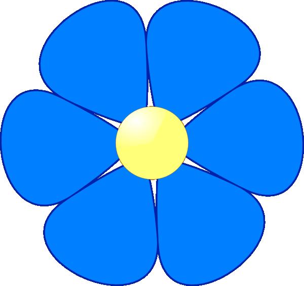 Blue Flower Clip Art At Clker Com Vector-Blue Flower Clip Art At Clker Com Vector Clip Art Online Royalty-4