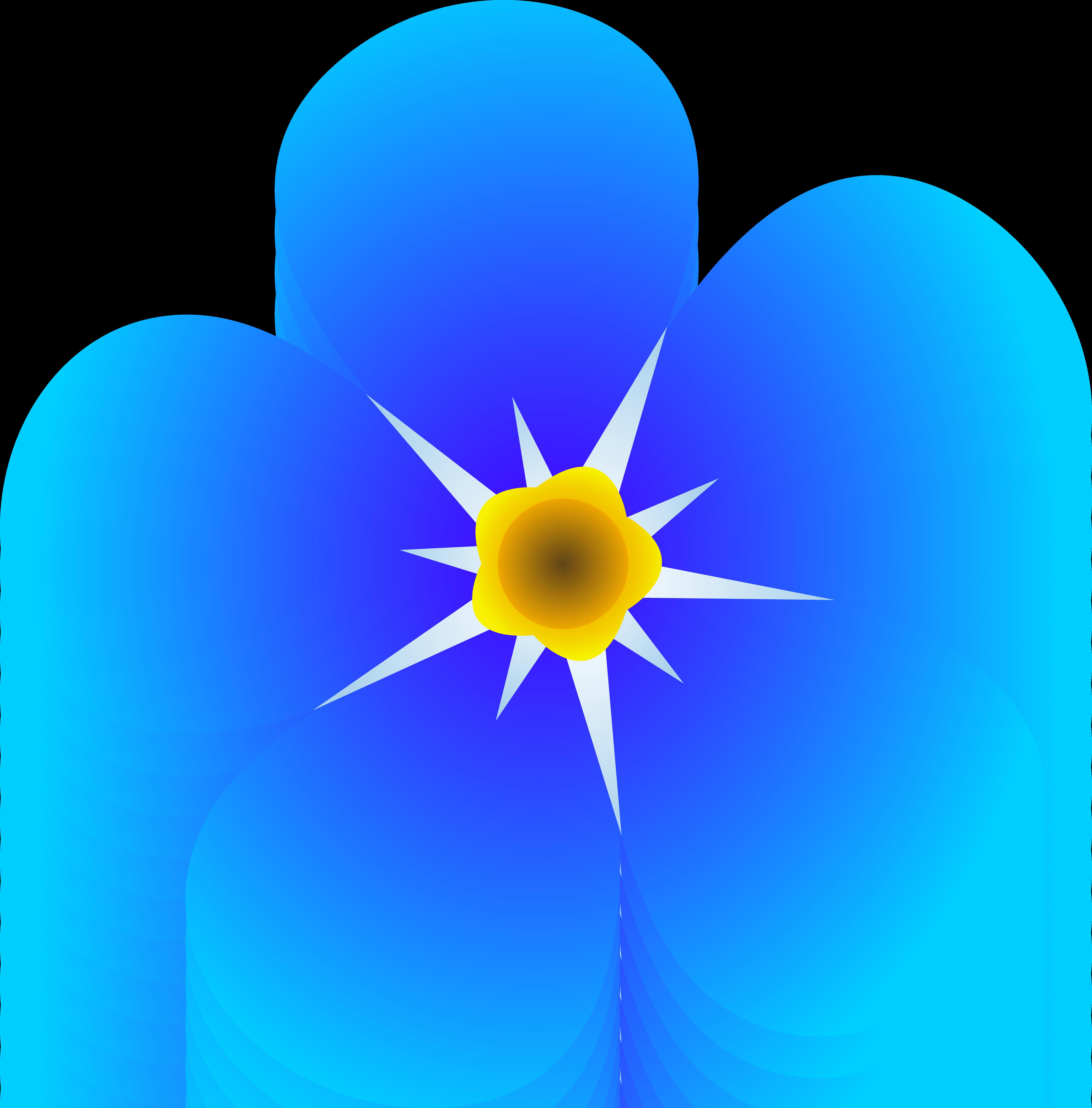 Blue Flower Clip Art-Blue Flower Clip Art-1