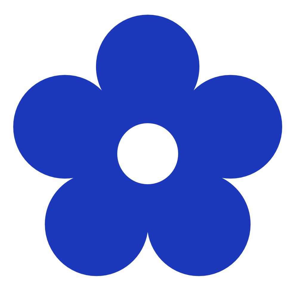 Blue Flowers Clip Art Clipart Best