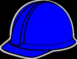 Blue Hard Hat Clip Art