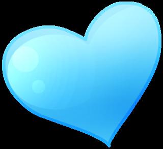blue heart clipart