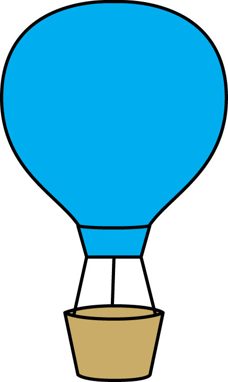 Blue Hot Air Balloon - Hot Air Balloon Clip Art