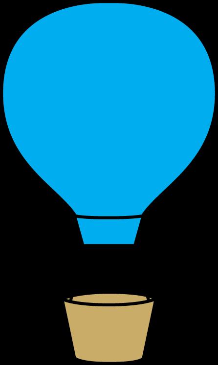 Blue Hot Air Balloon