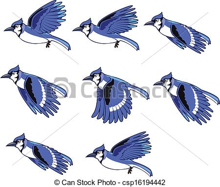 ... Blue Jay Animation Sprite for animation or game