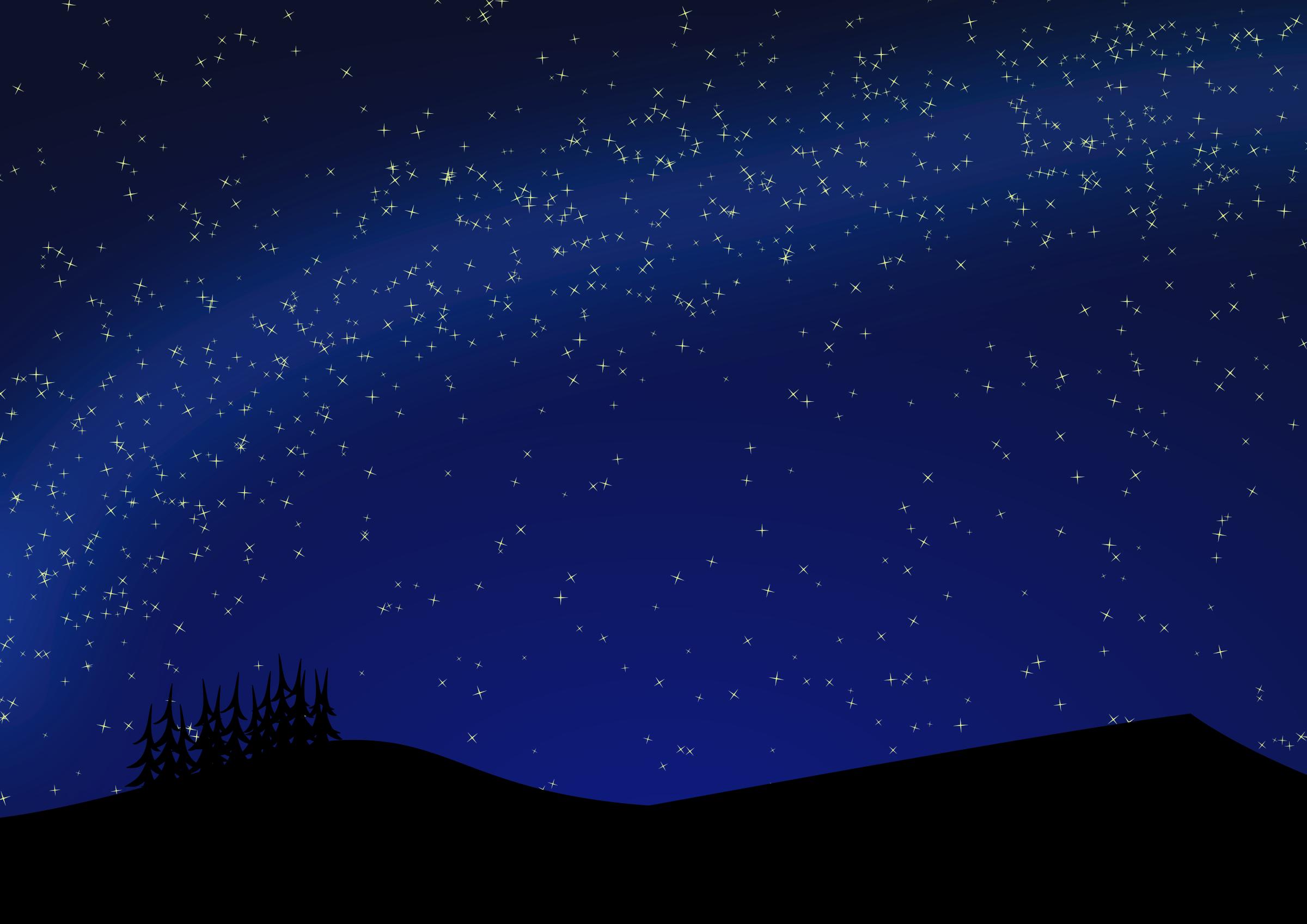 Blue Night Sky Clipart