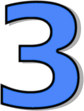 Blue Number 3 Clipart