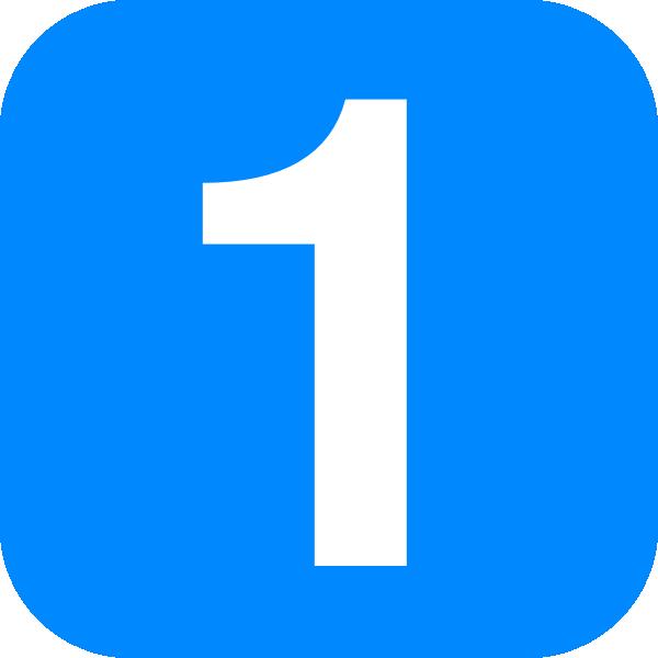 Blue Number One Clip Art At Clker Com Vector Clip Art Online