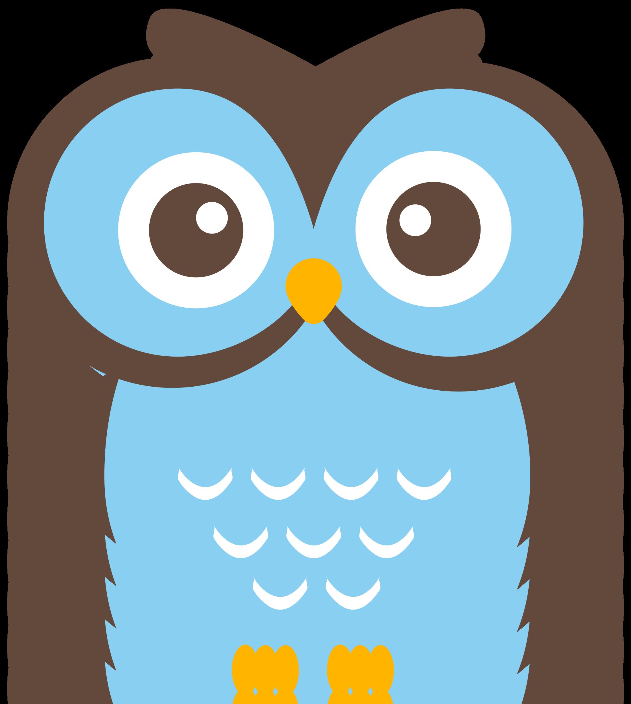 Blue Owl Clipart #1 .-Blue Owl Clipart #1 .-5