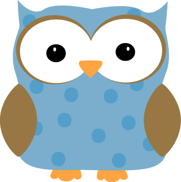 Blue Polka Dot Owl - Free Downloadable Clipart