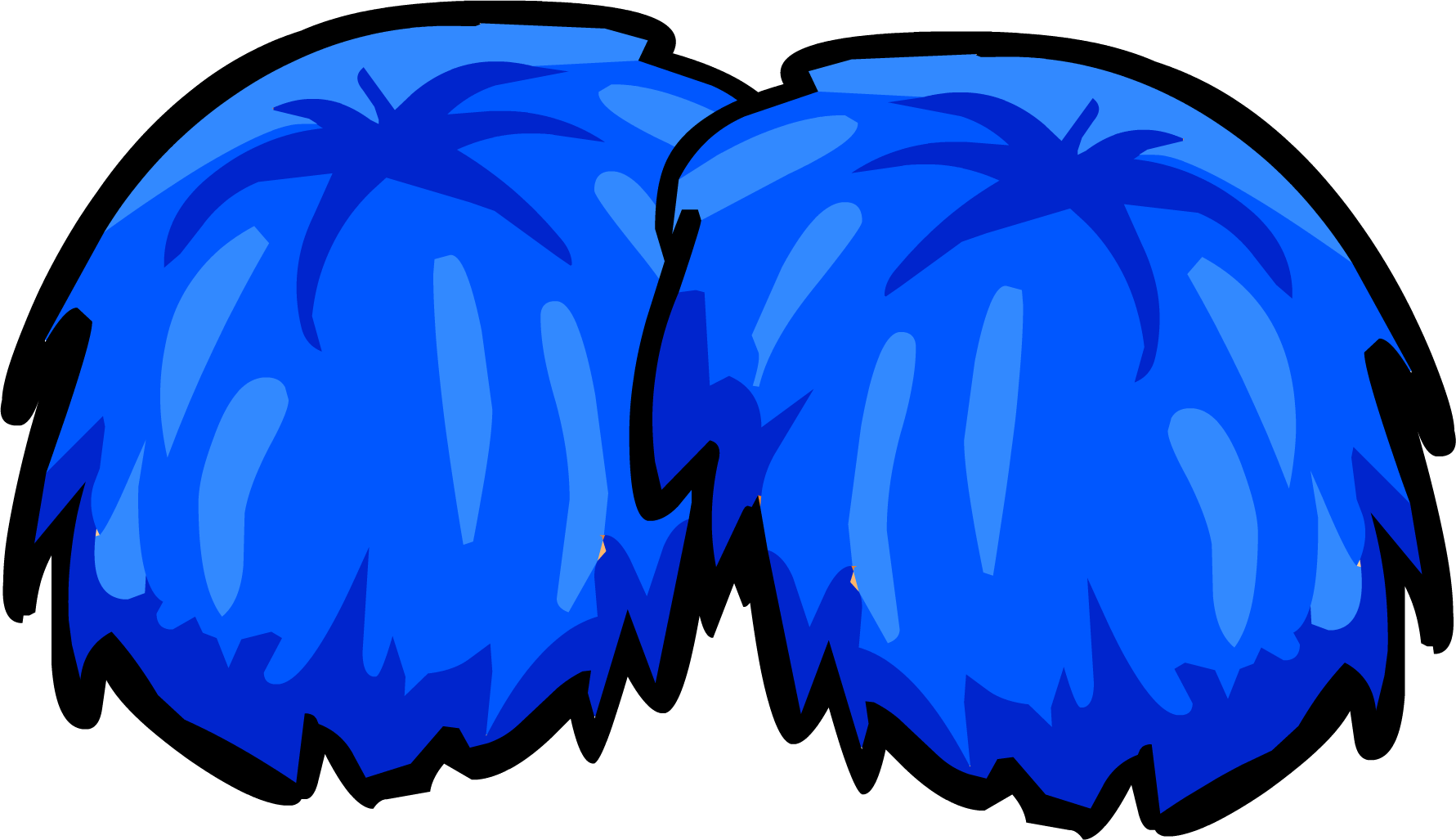 Blue Pompoms - Club Penguin .-Blue Pompoms - Club Penguin .-9