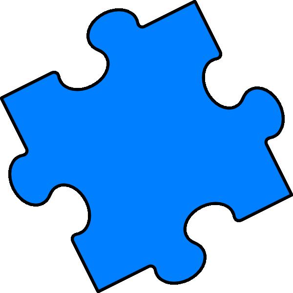 Blue Puzzle Piece Clip Art At Clker Com Vector Clip Art Online