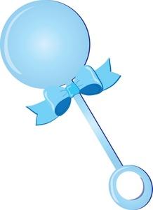 Blue Rattle Clipart #1