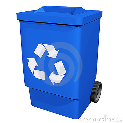 Blue Recycle Bin Clipart #1