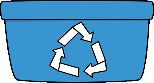 Blue Recycle Bin-Blue Recycle Bin-2
