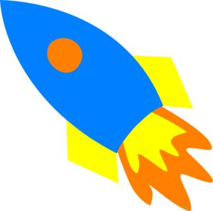 Blue Rocket Ship clip art - vector clip art online, royalty free u0026amp; public domain | hand and machine applique | Pinterest | Clip art, Public domain and Art