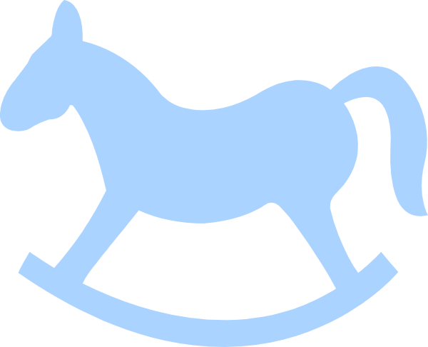 Blue Rocking Horse clip art - vector clip art online, royalty free