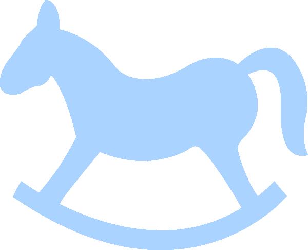 Blue Rocking Horse clip art - vector clip art online, royalty free