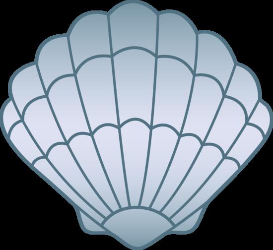 Blue Seashell Free Clip Art