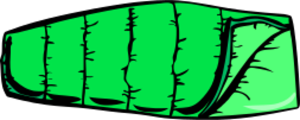 Blue sleeping bag vector clip art 2-Blue sleeping bag vector clip art 2-16