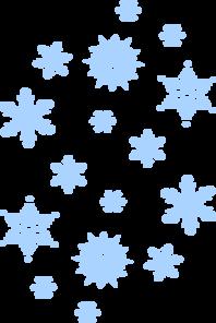 Blue Snow Falling Clip Art
