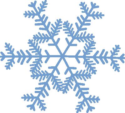 Blue Snowflake Christmas Vector Clip Art Snowflakes