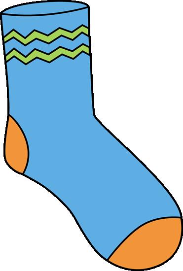 Blue Sock - Clip Art Socks