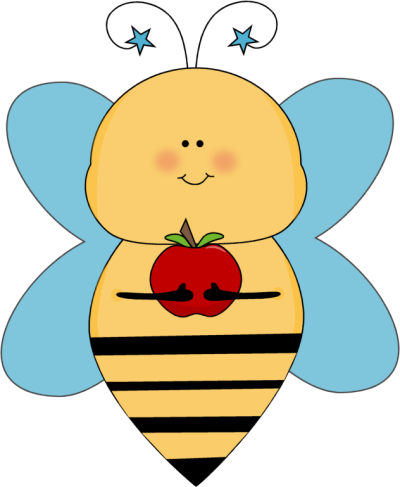 Blue Star Bee with an Apple