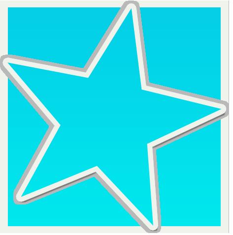 blue star clipart .