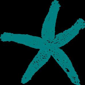 Blue Starfish Clip Art
