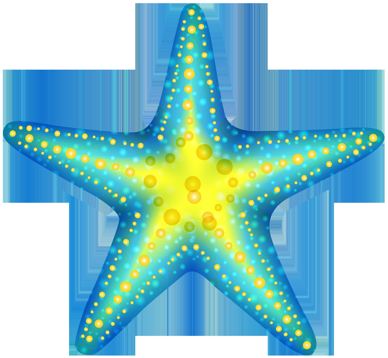 Blue starfish clip art web clipart