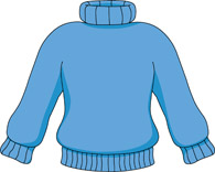 Blue Sweater Clipart Size: 66 - Clip Art Clothing