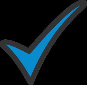 Blue Tick clip art - vector .