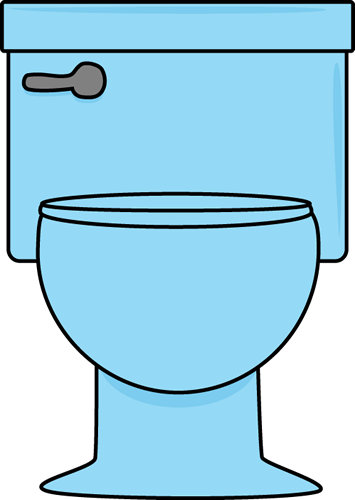 Blue Toilet - Clip Art Bathroom