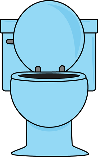 Blue Toilet With The Lid Up-Blue Toilet with the Lid Up-10
