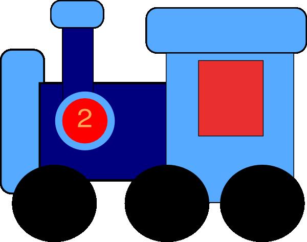 Blue Train clip art - vector clip art online, royalty free