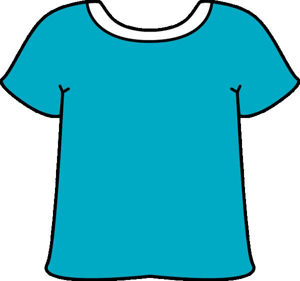 Blue Tshirt White Collar - Clip Art T Shirt