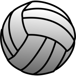 Blue volleyball clip art free clipart images