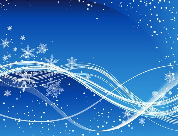 Blue Winter Background with .