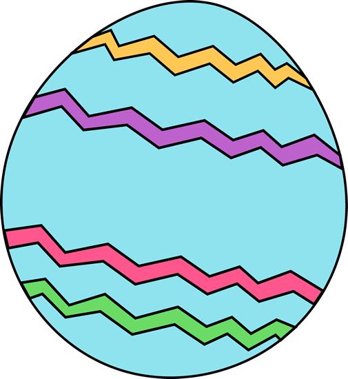 Blue Zig Zag Easter Egg