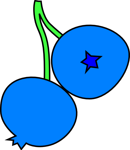 blueberry clipart black and w - Blueberry Clip Art