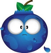 Cartoon Blueberry