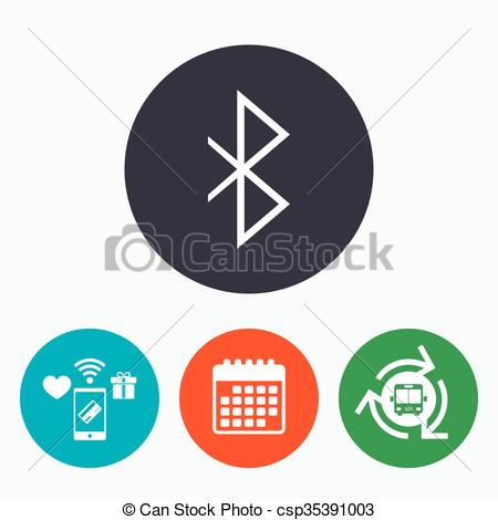 Bluetooth sign icon. Mobile network symb-Bluetooth sign icon. Mobile network symbol. - csp35391003-17